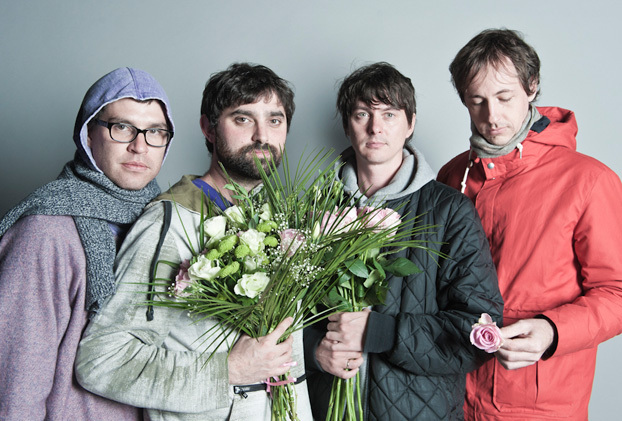 The experimental psychedelic band Animal Collective performs at the State Theatre in Portland on Thursday.