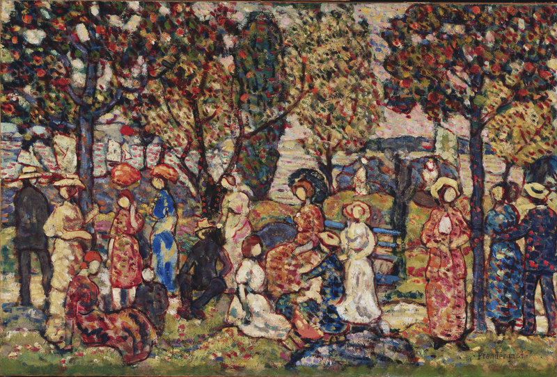 """Autumn,"" ca. 1917-18, by Maurice Prendergast"