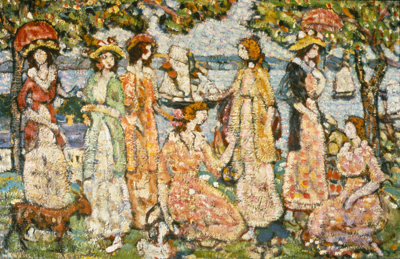 """The Idlers,"" c. 1916-18, by Maurice Prendergast"