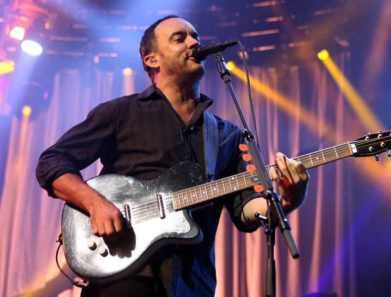Dave Matthews, whose bicycle broke down Saturday, was aided by a fan headed to one of his concerts.
