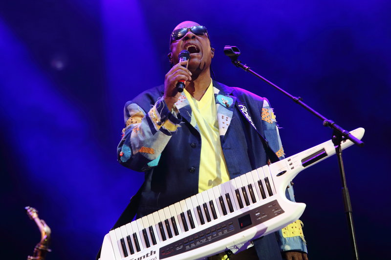 """At a concert Sunday, Stevie Wonder said that """"wherever I find that law exists, I will not perform in that state or in that part of the world."""""""