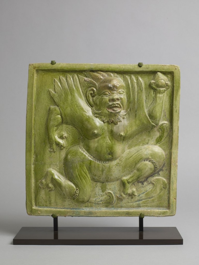 Pagoda tile from Chinese Qi dynasty.
