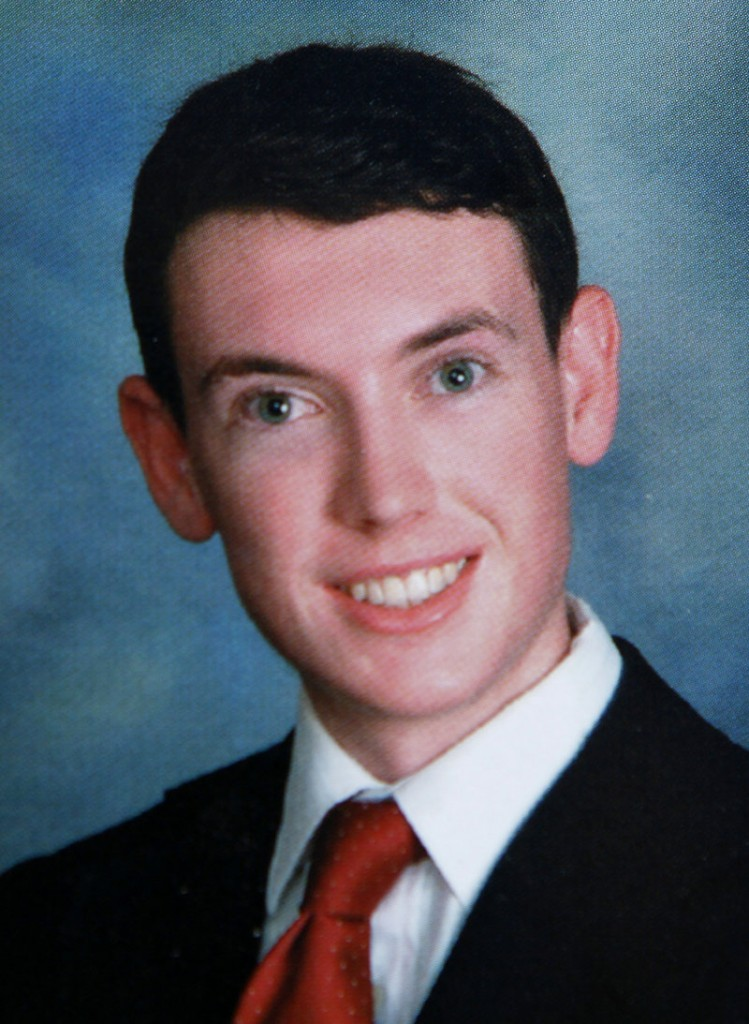 James Holmes is pictured in 2006 in the Westview High School, San Diego, yearbook.