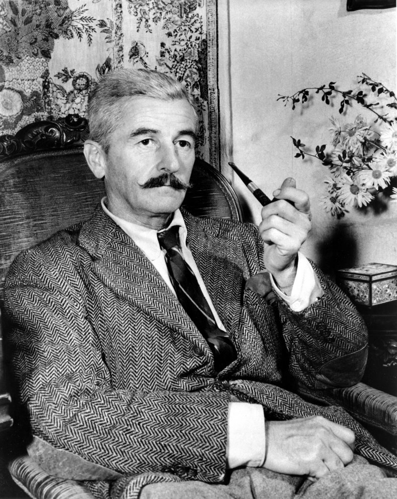 American novelist William Faulkner is photographed at his home near Oxford, Miss., in 1950.