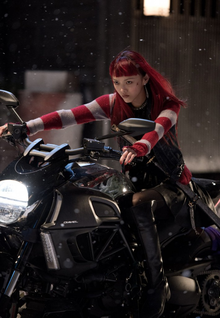 "Rila Fukushima draws the hero to Japan in ""The Wolverine."""