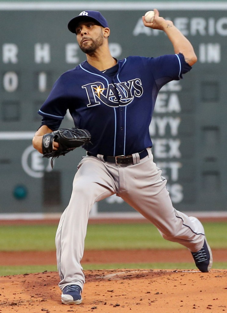 David Price of the Tampa Bay Rays continued his dominance at Fenway Park, where he has a career 1.96 earned-run average – the best among active pitchers.