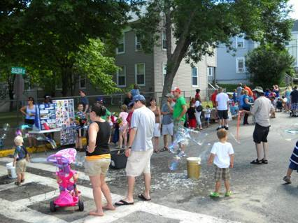 People of all ages participate in the 2012 Bacon Street Neighborhood Festival in downtown Biddeford. This year's event will be held from noon to 5 p.m. Sunday. It is free and open to the public.
