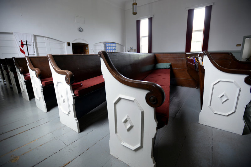 Empty pews have become a more common sight at First United Methodist Church. An assessment of religious affiliation has found sharp declines in memberships among Catholic and several mainline Protestant denominations.