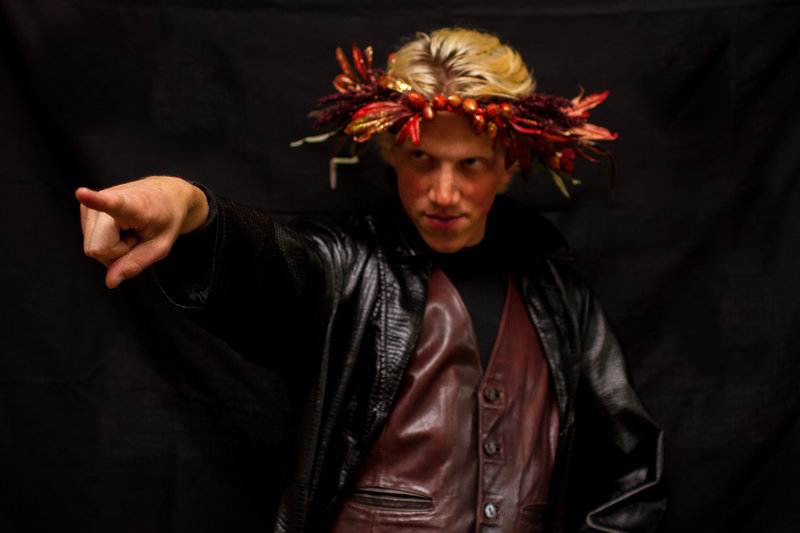 "Daniel Mahler portrays Oberon in the Harborside Shakespeare Company production of ""A Midsummer Night's Dream"" at Mayo Street Arts in Portland Friday and Saturday."