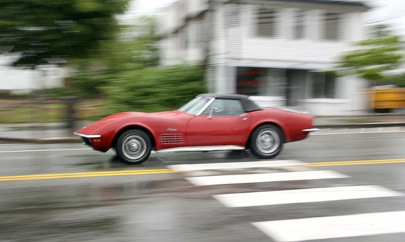 In this 2011 file photo, a red 1971 Corvette Roadster. The price of classic cars has swelled since the worst of the economic downturn. As the economy improves and the value of classic cars rise, more buyers are taking them in for paint jobs, modifications and tune-ups, especially in car-crazy Detroit.