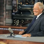 "Host David Letterman, shown on the set of ""Late Show with David Letterman"" in July, marks 20 years with CBS."