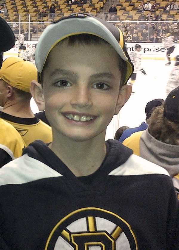 "This April 11, 2013 photo provided by the Richard family shows, Martin Richard, 8, in Boston, the youngest of three people killed in the bombings, Monday, April 15, 2013, near the finish line of the Boston Marathon.The family of Martin and his sister Jane, 7, who lost part of her left leg in the blast, released a photo Thursday, Aug. 15, 2013 showing her walking on a prosthetic leg, and said in a statement that she is already dancing and ""struts around on it with great pride."" (AP Photo/Bill Richard, File)"