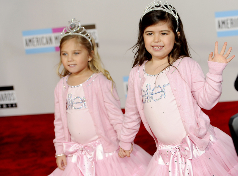 The parents of Sophia Grace Brownlee, right, shown with her cousin Rosie Grace McClelland, made a video of her rapping and singing Nicki Minaj's song
