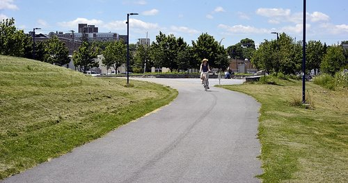 State transportation officials have freed up grant funds for the city to begin planning to connect the Bayside Trail, seen here, to the Portland Transportation Center.