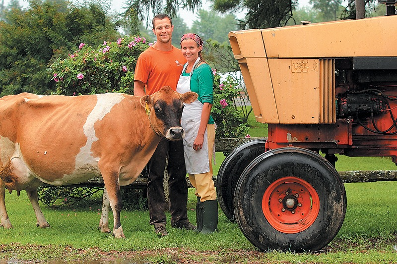 Josh and Amy Clark of Crooked Face Creamery in Skowhegan are cheese makers and third-generation farmers.