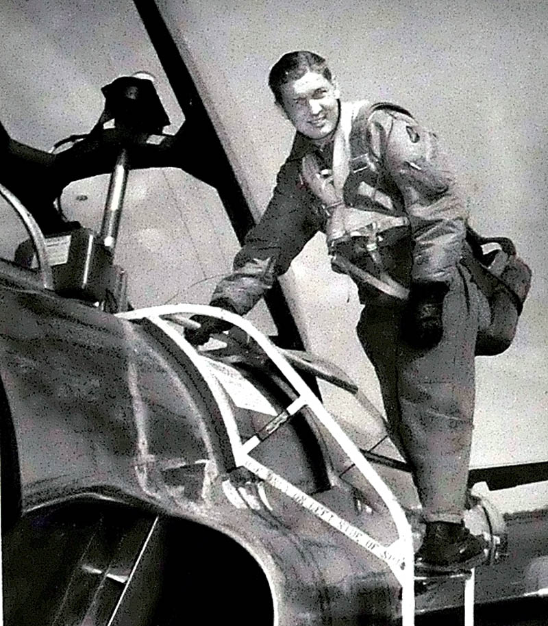 Air Force Maj. Robert Rushworth is seen getting into an X-15 aircraft in 1963 that propelled him into space.
