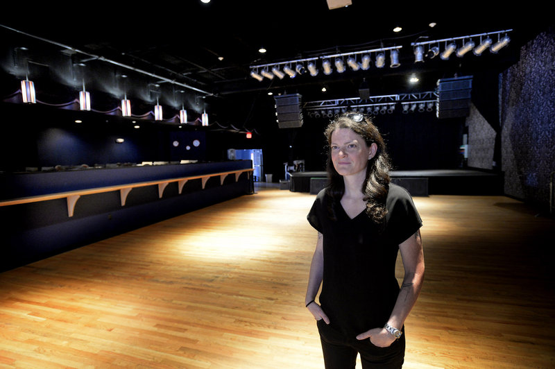 Lauren Wayne, general manager at the State Theatre, which bought the smaller Port City in May. Wayne is, for now, running both venues.
