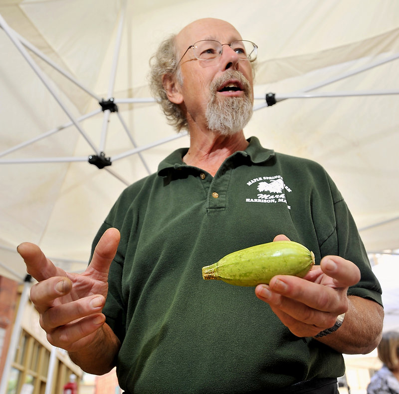 "Mark Heidmann, who owns Maple Springs Farm in Harrison, says: ""I don't think people have an understanding of what 'genetically modified' means, but they know they don't like it."""
