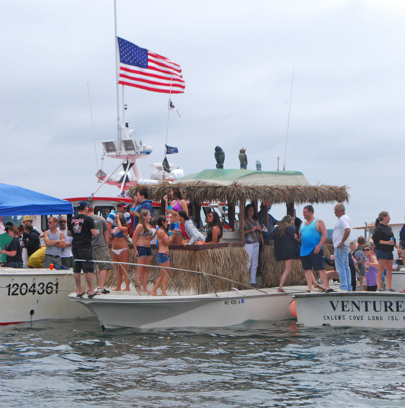 If you like pina coladas, then you'll be in good company aboard Stevie Johnson's floating tiki bar that's not the fastest boat in the water, just the most fun.