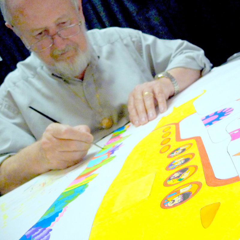 "Ron Campbell, above, who directed ""The Beatles"" Saturday-morning cartoon show and served on the animation team of the 1968 film ""Yellow Submarine,"" will be in Portland this week for the WBLM Rock Art Show & Sale."