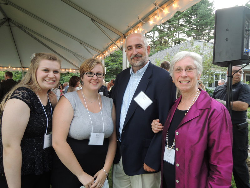 Spring Harbor supporters Linsey Falconer and Dri Huber, guest speaker Randy Seaver, who writes a blog about mental illness, and board member Anne Pringle.