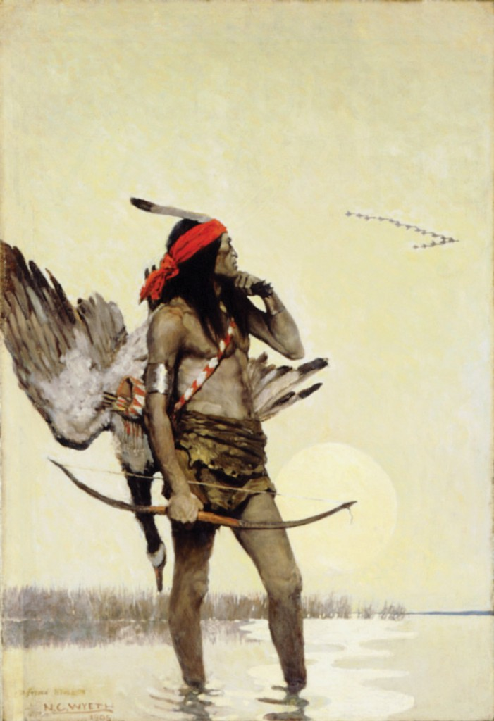 "N.C. Wyeth paintings at the Farnsworth Art Museum include ""The Hunter."""
