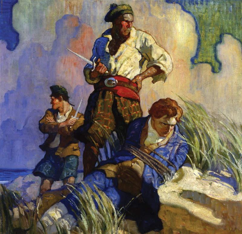 "N.C. Wyeth paintings at the Farnsworth Art Museum include ""David Balfour."""