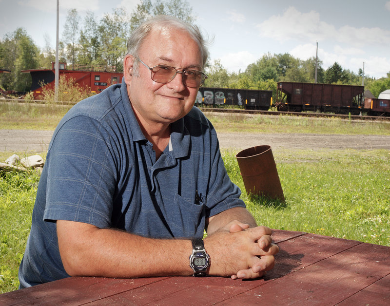 "Stephen Dean, pastor at the United Methodist Church, lives next to the rail yard at Brownville Junction in Brownville, which he says was a ""hopping place"" when he was a boy growing up here."