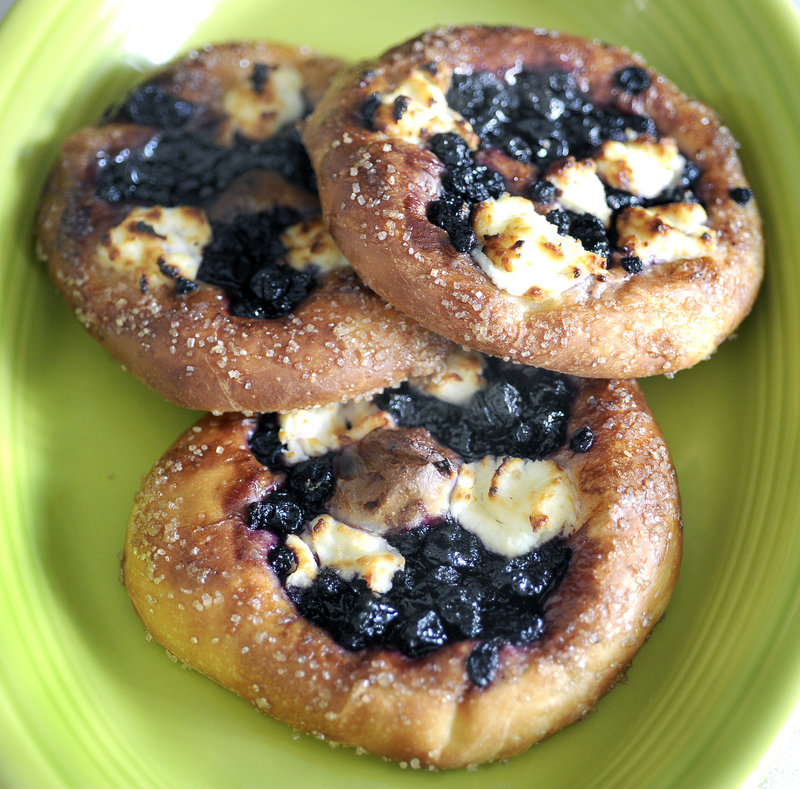 Blueberry sweet focaccia from Little Bigs, a new bakery in South Portland that is scheduled to open at 340 Main St. on Aug. 14.