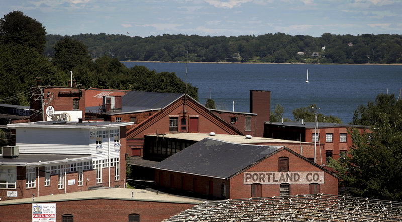 Last week's sale of the Portland Company Marine Complex on Fore Street, above, allowed Phineas Sprague Jr. to move ahead with his plan to build a boatyard on Portland's western waterfront.