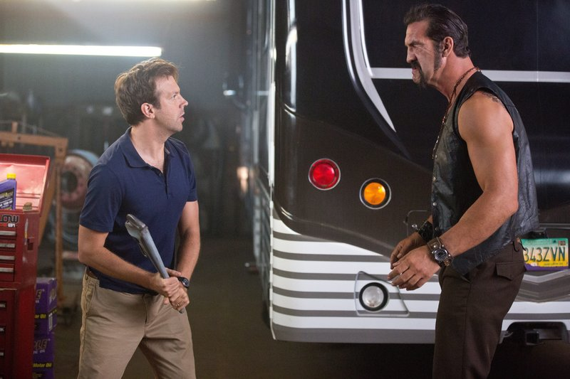 "Jason Sudeikis deals with a tough customer in ""We're the Millers."""