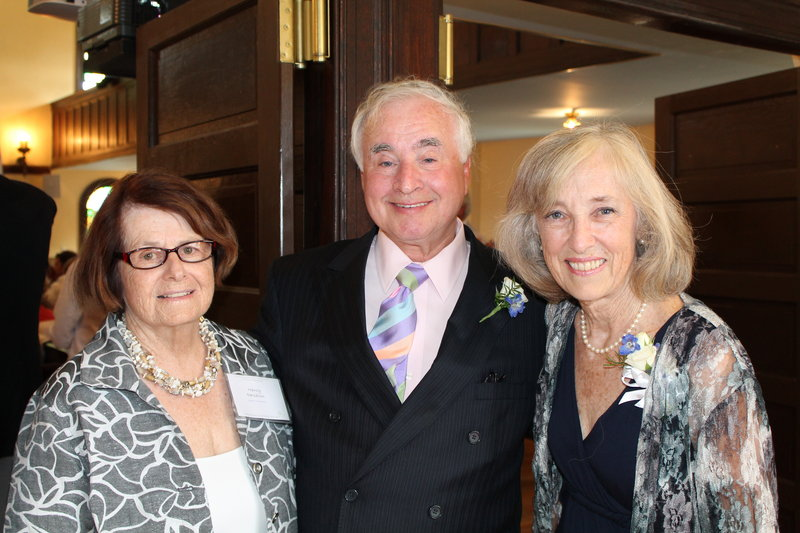 Maine Jewish Museum curator-in-residence Nancy Davidson with the museum's 2013 Lifetime Achievement Award recipients, Kenny and Mary Nelson.