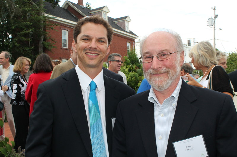 Maine Senate President Justin Alfond of Portland with Peter Pitegoff, dean of the University of Maine School of Law.