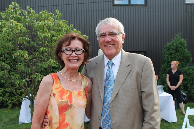 John Norton, vice president of advancement at the University of New England, with his wife, Barbara.