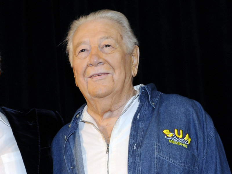 Jack Clement poses for photographers in the Country Music Hall of Fame in Nashville, Tenn., in April. He is seen as a catalyst who boosted other musicians' careers.