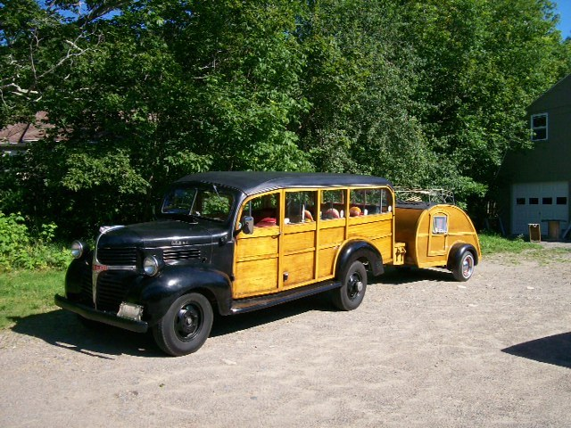 This woodie, owned by Jim and Leanne Blankman of Eastport, has a working history. It once shuttled workers to a cannery in North Lubec.