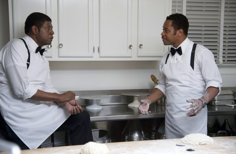 "Forest Whitaker with Cuba Gooding Jr., in a scene from ""Lee Daniels' The Butler."""