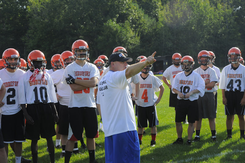 Biddeford football has a new but familiar face at the helm this year, as Brian Curit returns after seven years.