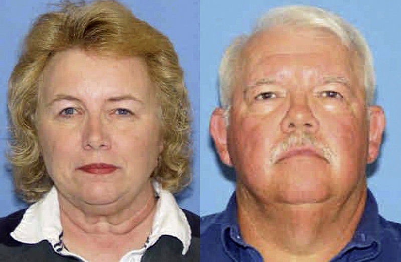 Photos released by New Mexico authorities show shooting victims Linda and Gary Haas of Tecumseh, Okla.