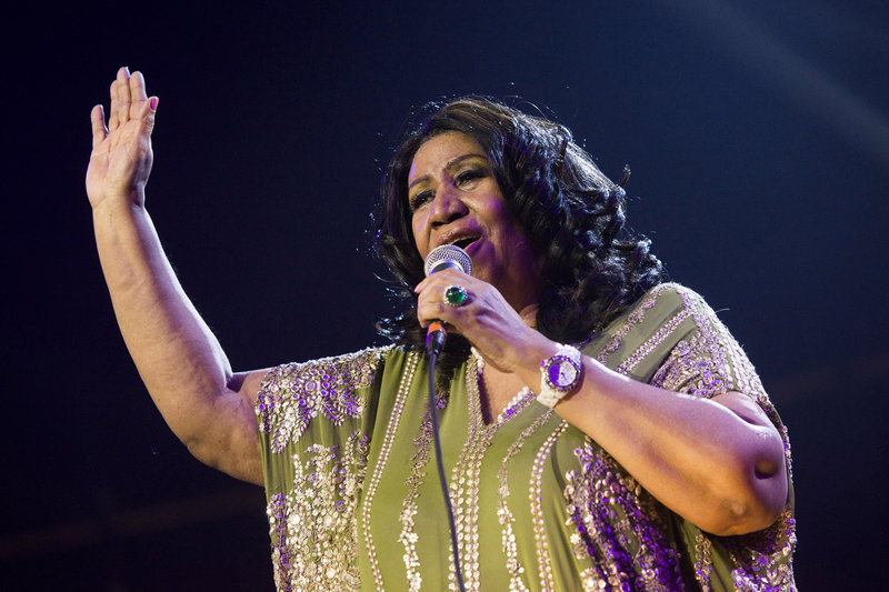 Aretha Franklin performs May 11 during McDonald's Gospelfest 2013 at the Prudential Center in Newark, N.J.