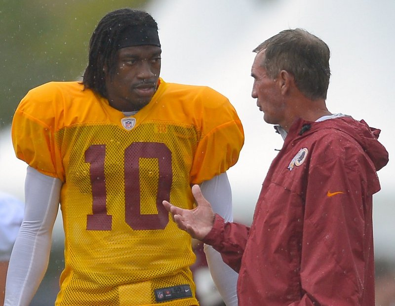 "Robert Griffin III and Washington Coach Mike Shanahan haven't been afraid to say critical things about each other in the media. ""That's part of the process. You want that strong mindset,"" Shanahan said."