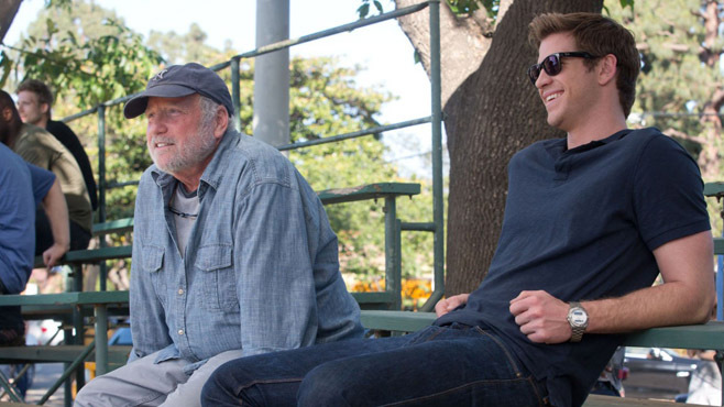 """Richard Dreyfuss has a fairly small role as the father of Liam Hemsworth's character in """"Paranoia."""""""
