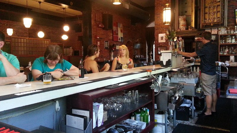 Sonny's still attracts business people to its venerable location on Exchange Street, but it also draws a younger crowd.