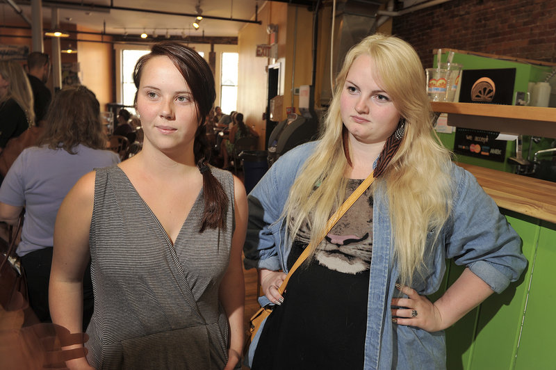 Kelsey Weber, left, and Kara Munro, Maine College of Art juniors, will owe $40,000 and $80,000, respectively.