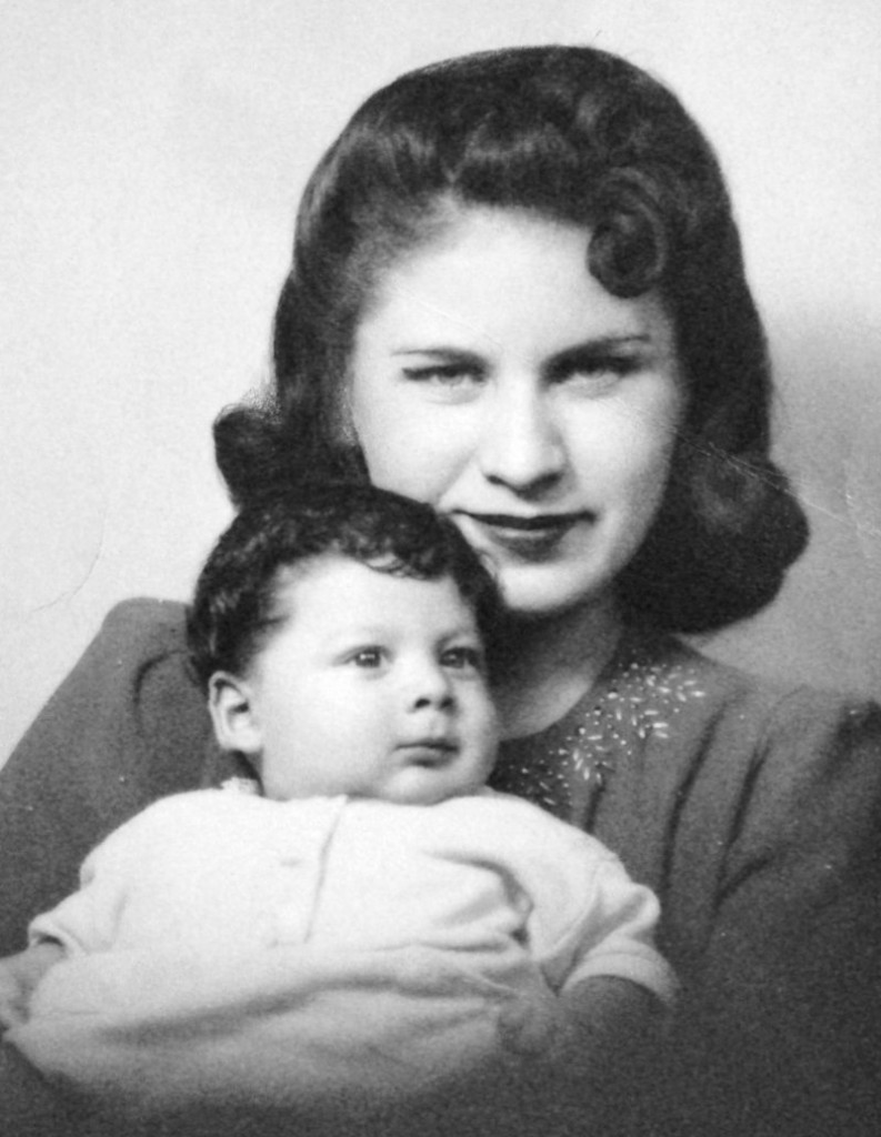 """This photo shows Beatrice Kozera, whose fleeting affair with novelist Jack Kerouac was chronicled in """"On the Road,"""" and her son in 1941."""