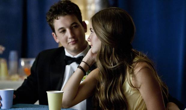"Miles Teller and Shailene Woodley in ""The Spectacular Now."""