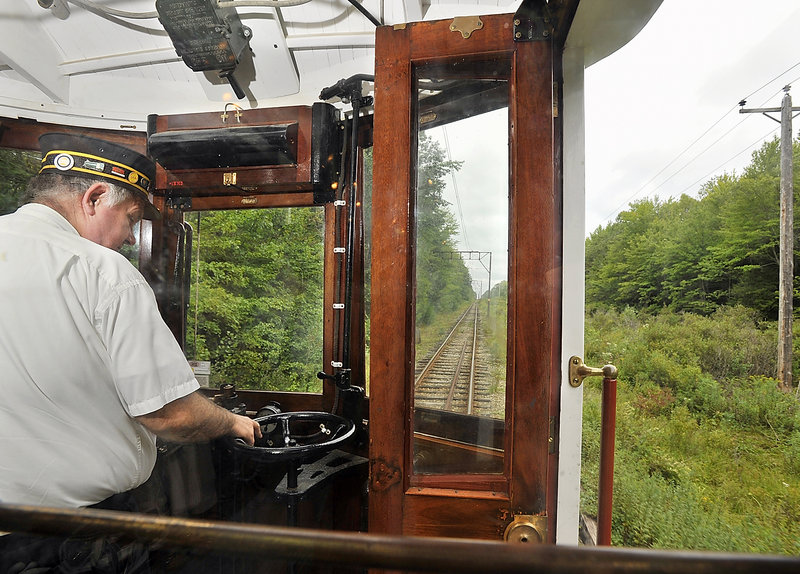 With John Grady at the wheel, a trolley takes riders into a scenic wilderness not far from densely populated York County and its beaches.