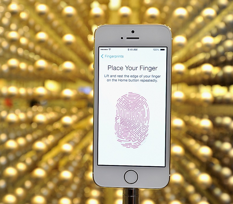 The new Gold iPhone has fingerprint security.