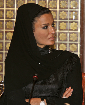 Sheikha Moza bint Nasser of Qatar will receive the George Bush Award for Excellence in Public Service on Thursday at the University of New England.