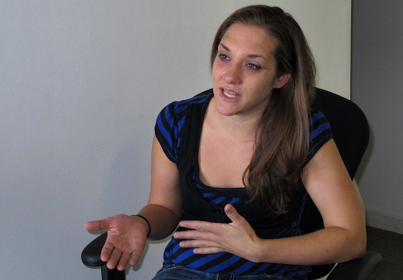 Trista Reynolds, 25, speaks with an Associated Press reporter during an interview, in Westbrook, Maine, Tuesday, Sept. 17, 2013. Reynolds, whose 20-month-old daughter, Ayla Reynolds, went missing in December of 2011, says she's going to release more information she's been told by investigations in hopes of calling attention to the case and bringing it to a resolution. (AP Photo/Clarke Canfield)
